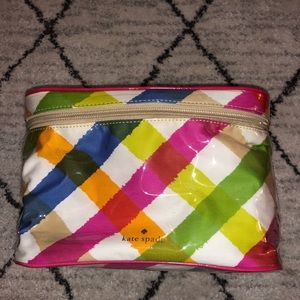 Kate Spade 3 n 1 Cosmetic Case with Vibrant Colors
